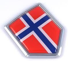 Amazon Com Car Chrome Decals Cbshd158 Norway Norwegian Flag Car Chrome Emblem 3d Decal Bumper Sticker Automotive