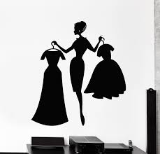 Vinyl Wall Decal Fashion Girl Shopping Clothing Store Dresses Stickers Wallstickers4you
