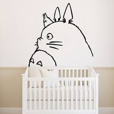 Big Sale F522 Delicate Spirited Away Totoro Wall Stickers Home Furnishing Decorative Wallpaper For Kids Rooms Art Decals Bedroom Vinyl Mural Cicig Co