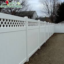 China Security Fence White Vinyl Privacy Fence With Lattice Top China Pvc Fence Pvc Fence Factory