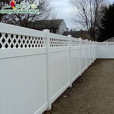 China Hot Sale 6 H 8 W Pvc Plastic Lattice Privacy Fence China Vinyl Fence Pool Fence
