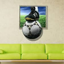 Lohometm The Frame Outside Of Soccer 3d Art Wall Decals Removable Wall Stickers For Your Home Or Office Pvc M 3d Wall Art Wall Stickers Removable Wall Stickers