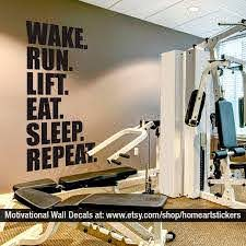 Gym Wall Decal Exercise Stickers Workout Stickers Etsy Gym Wall Decal Gym Wall Stickers Gym Interior