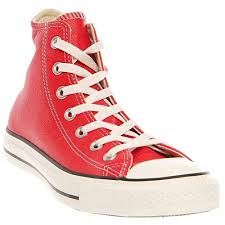 red leather converse chucks up to