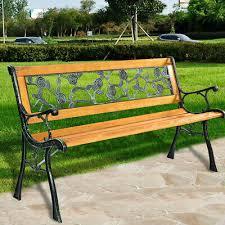 goplus patio garden chair bench porch