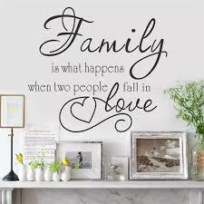 Family Is Two People Fall In Love Wall Stickers Home Decor Decals For Walls Vinyl Removable Decal Murals Vinyl Wall Decals Wall Sticker Familyfamily Wall Decal Aliexpress