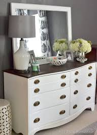 painted dresser and mirror makeover