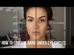 conceal dark under eyes with makeup