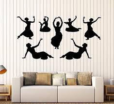 Amazon Com Andre Shop Vinyl Wall Decal Indian India Dance Dancers Girls Devadasi Hindu Stickers Large Decor19sx60i Home Kitchen