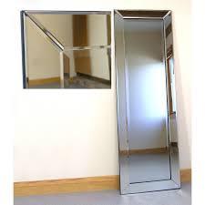 lara silver glass framed full length