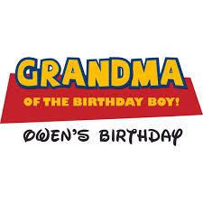 Grandma Of The Birthday Boy Wall Vinyl Customized Name Wall Decal Custom Vinyl Wall Art Personalized