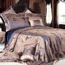 8 piece luxury silk bedding set