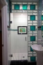 glass block walls for bright and modern