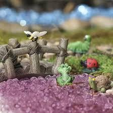 assorted resin miniature garden animals