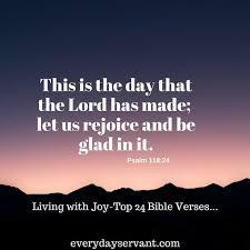 Top 24 Bible Verses-Living with Joy - Everyday Servant