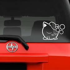 Vinyl Decal Sticker Car Window Wall Pokemon Smash Jigglypuff Rest 7 X 5 5 Ebay