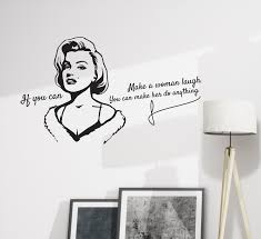 Wall Decal Monroe Quote If You Can Make Laugh Vinyl Decor Black 28 5 I Wallstickers4you