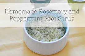 rosemary and peppermint foot scrub