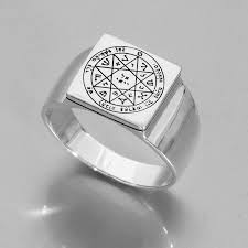 king solomon seals rings silver