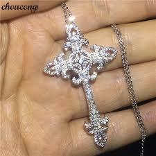 cross pendant aaaaa cz stone