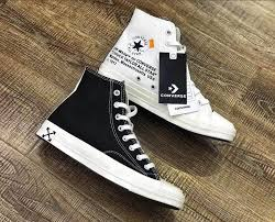 2020 Top Fashion Double Cloth Fence Virgil Abloh Limited Off White X Converse Chuck 1970s Classic Canvas High Top Shoes Ow Black And White Unisex Lazada Ph