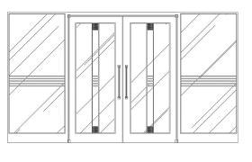 sliding glass door elevation block cad