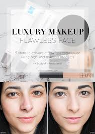flawless face with luxury makeup