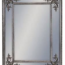 silver square french mirror