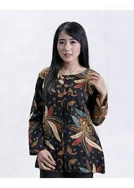 Model baju batik atasan wanita terbaik. Blus Batik Kombinasi Rompi Tempel Motif Daun Tarantula Atasan Dan Tunic Wanita Zilingo Shopping Indonesia