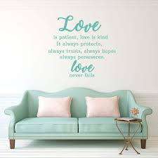 Love Is Patient Vinyl Decal Vinyl Decor Wall Decal Customvinyldecor Com
