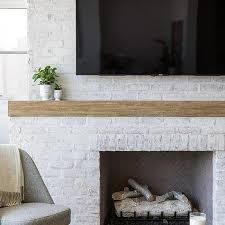 white brick fireplace design ideas