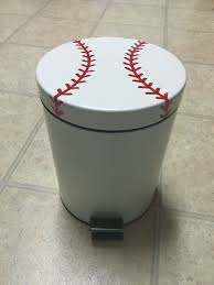 Baseball Trashcan Baseball Bathroom Baseball Bathroom Decor Baseball Bedroom