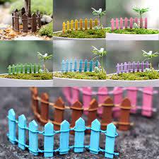 10 Pcs Mini Wood Bendable Decorative Flower Plant Pot Fence Panels Home Garden Decoration Ornament Shopee Philippines