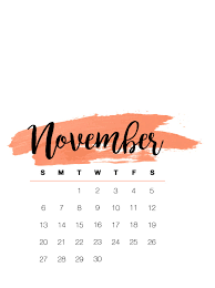 november calendar 2019 fl wallpaper