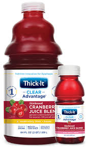 thickened cranberry juice blend