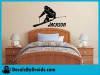 Skier Wall Decal With Personalized Name Custom Vinyl Name Decal Stic Decals By Droids