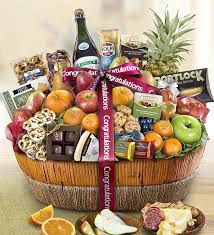 congrats fruit sweets gift basket