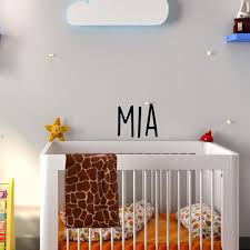 Vinyl Wall Art Decal Girls Custom Name Mia Custom Text Name 12 Imprinted Designs