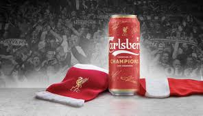 red beer can for liverpool fc win