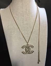 chanel crystal pearl cc pendant gold