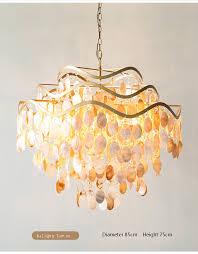 capiz seashell pendant lamp light