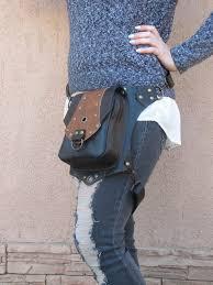 leather women thigh bag leg holster bag