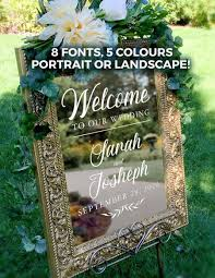 Welcome To Our Wedding Custom Vinyl Decal Sticker Wedding Decor Custom Welcome Wedding Signs 2971900 Weddbook