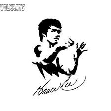 Yjzt 10 3cm 14 2cm Bruce Lee Cartoon Car Sticker Art Kung Fu Vinyl Decal Black Silver C3 0046 Buy At The Price Of 0 97 In Aliexpress Com Imall Com