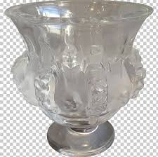 vase frosted glass lalique wine glass