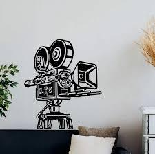 Wall Stickers Cinema Ticket Popcorn Film Movie Cool Living Room Art Decals Vinyl
