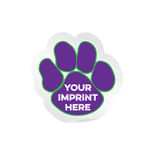 Custom Window Clings Paw Print Decals For Cars Schoollife