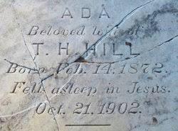 Ada Hill (1872-1902) - Find A Grave Memorial