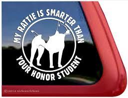 Rat Terrier Decker Terrier Decal Sticker Car Window
