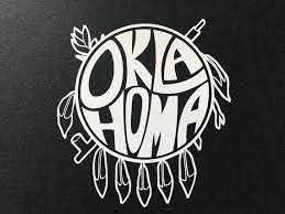 5 Oklahoma Shield Cut Vinyl Decal White Etsy